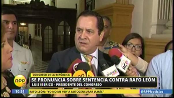 Luis Iberico criticó el dictamen del Poder Judicial contra el periodista Rafo León por difamación.