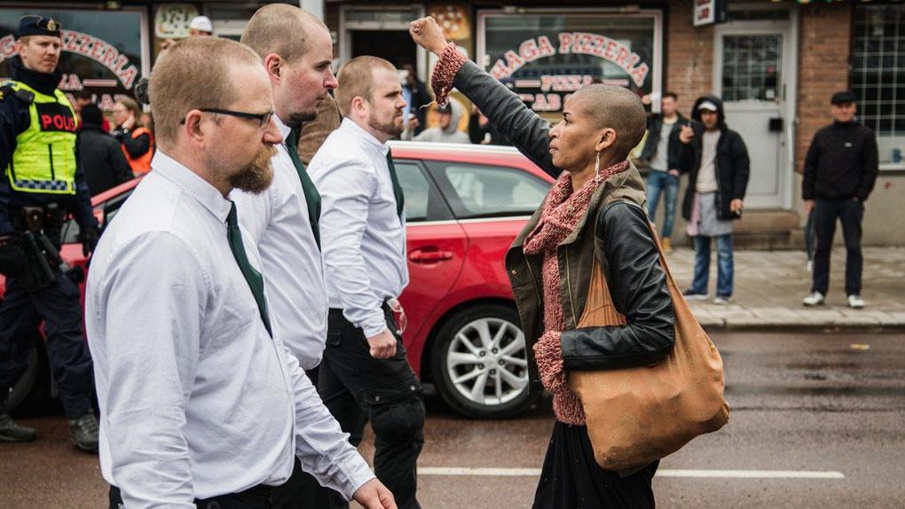 Tess Asplund se ha convertido en un símbolo contra el racismo.