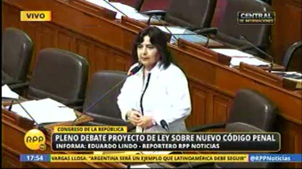 Ana Jara expone ante el pleno por ley de nuevo Código Civil.