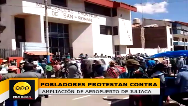 Pobladores de urbanizaciones aledañas a terminal aéreo piden su reubicación.