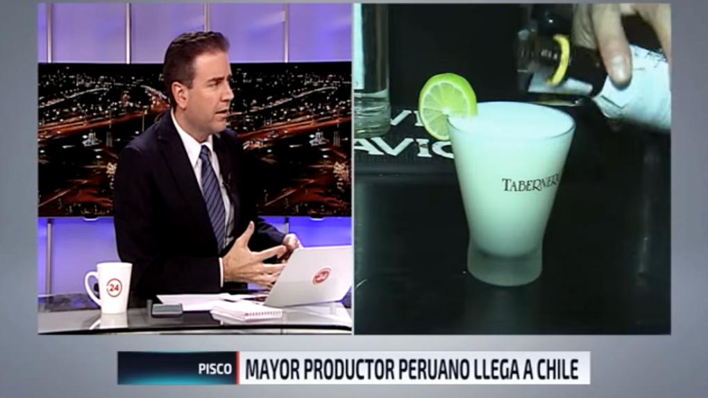 El periodista habló del pisco peruano.