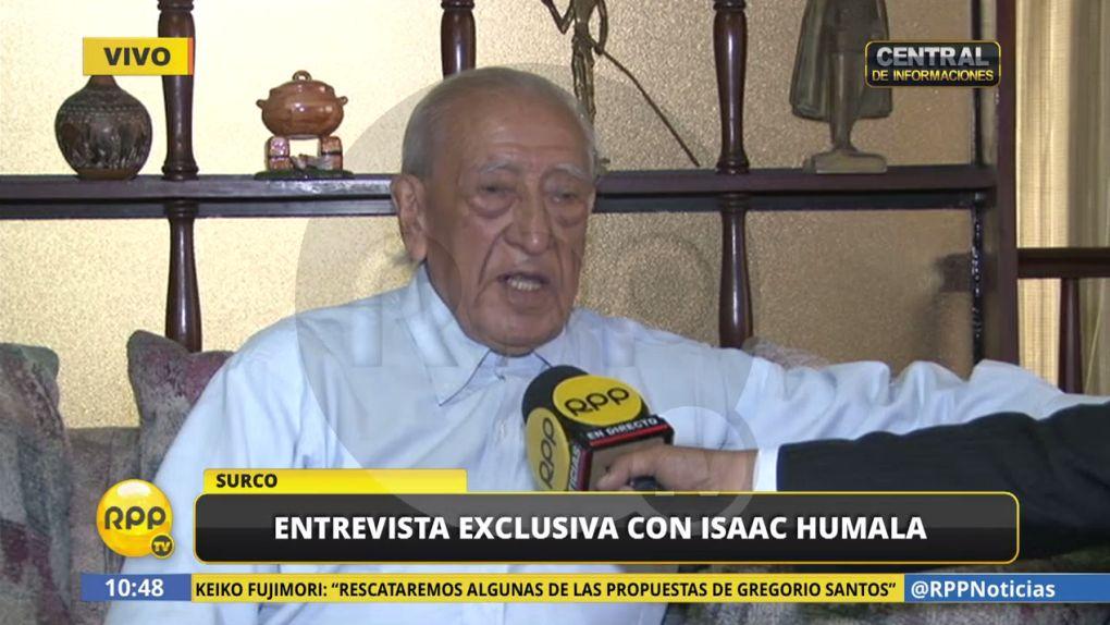 Isaac Humala habló en exclusiva con RPP Noticias.