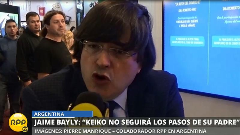 Jaime Bayly dio declaraciones exclusivas a RPP Noticias en la Fería del Libro de Buenos Aires.