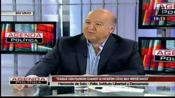 Hernando de Soto considera que hay una relación opuesta entre lo que fue Alberto Fujimori como político y lo que es Keiko.