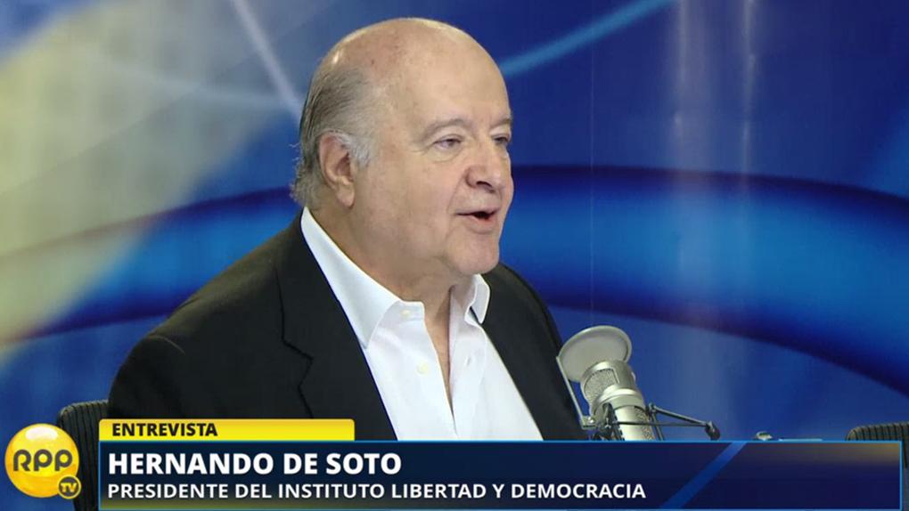 Hernando de Soto señaló que está dispuesto a colaborar con PPK si este gana.