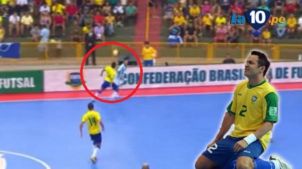 Falcao quedó ridiculizado por esta jugada.