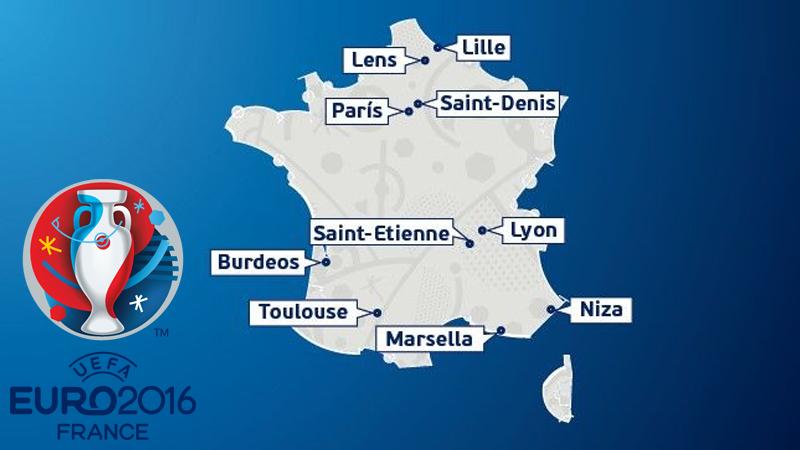 Estas son las sedes elegidas para la Eurocopa 2016.
