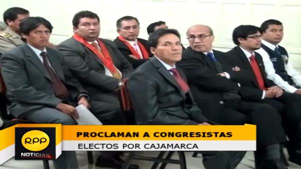 Proclamación de congresistas por la región Cajamarca.