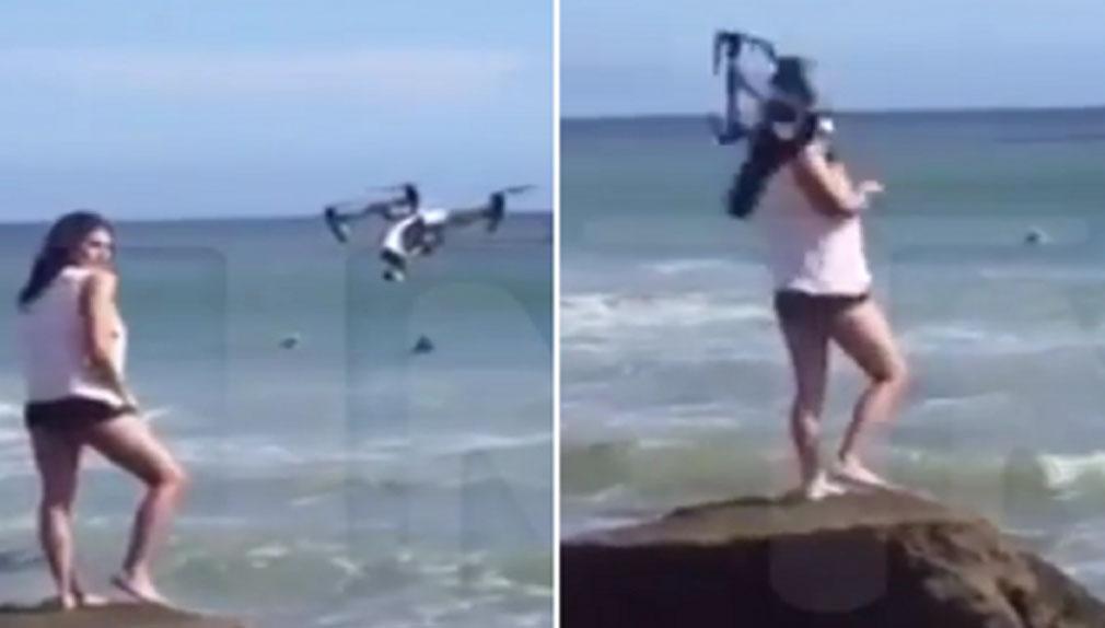 Modelo fue golpeada en la cara por un dron en plena sesión de fotos
