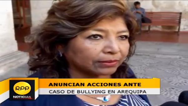 Directora Ugel Norte Arequipa se pronunció por protesta de padres que denuncian bullying.