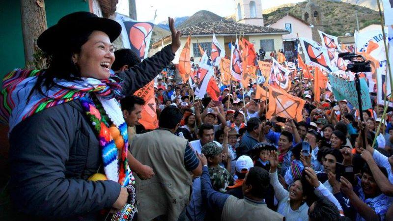 Keiko Fujimori se encuentra en Cusco, como parte de su gira proselitista por el interior del país.