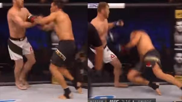 Brutal nocaut impacta a hinchas brasileños de la UFC.