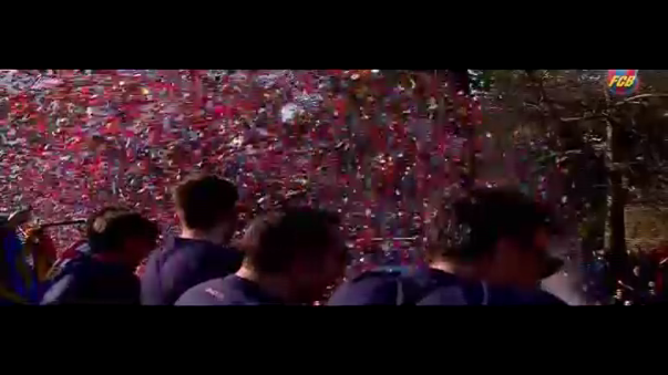 Así celebró el Barcelona tras ganar la Liga BBVA.