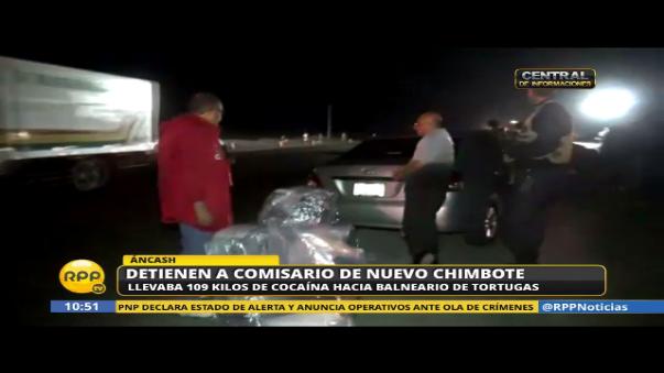 Comisario detenido con droga