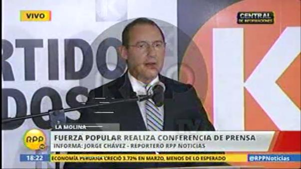 José Chlimper dio descargo sobre caso Joaquín Ramírez.