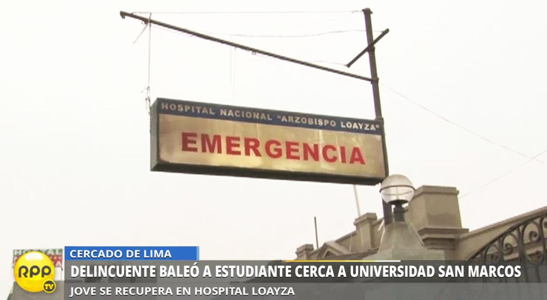 El estudiante fue llevado al hospital Arzobispo Loayza.