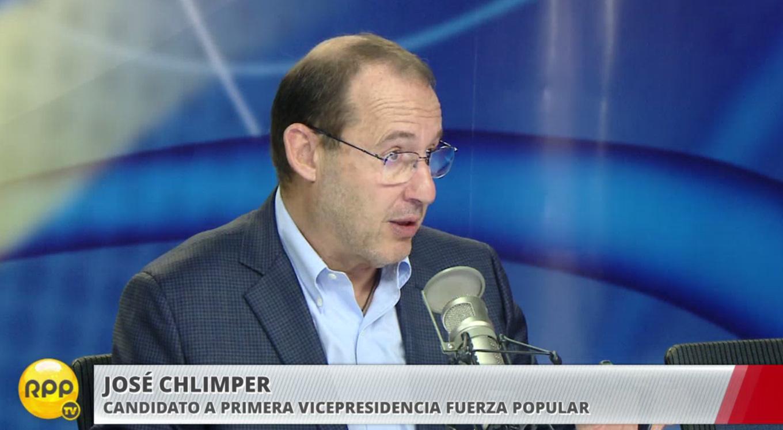 José Chlimper también dijo que no separarán a Joaquín Ramírez del partido Fuerza Popular por indicios.