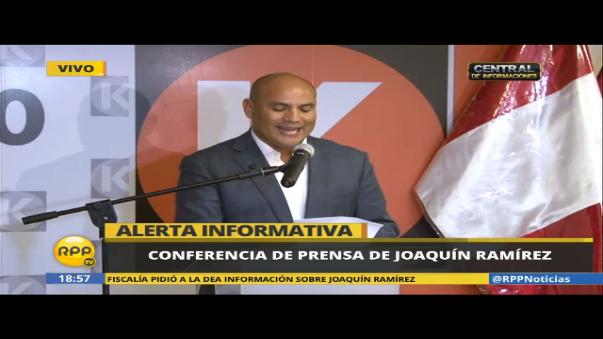 Joaquín Ramírez también es investigado por la Fiscalía de lavado de activos en Perú.