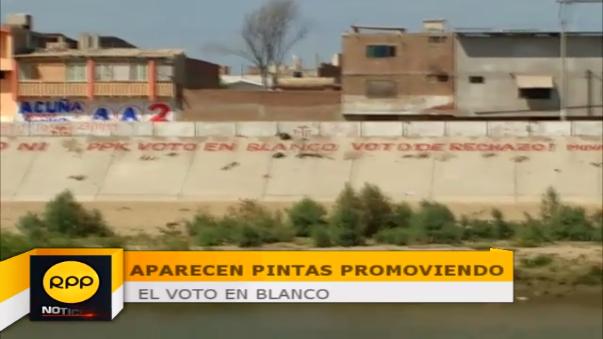 Pintas en Piura incentivan a votar en blanco para estas elecciones.