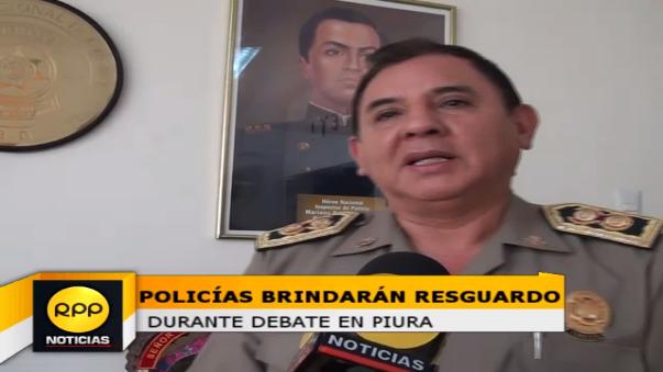 Jefe Policial aseguró que serán 803 los policías destacados tanto al interior como exterior de la Universidad Nacional de Piura para el debate presidencial del domingo 22 de mayo.