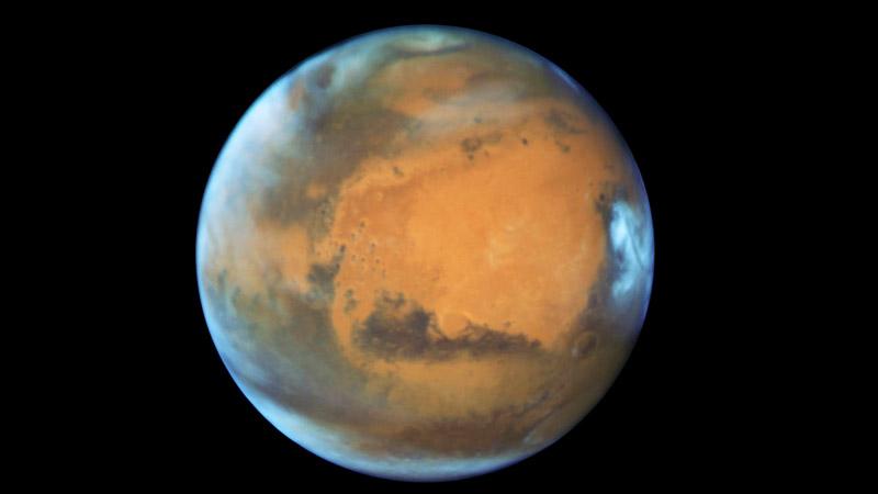 La espectacular foto de Marte, que está cada vez más cerca de la Tierra