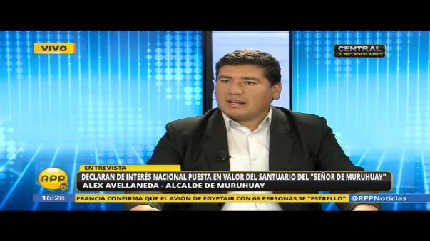 Entrevista a alcalde de Muruhuay, Alex Avellaneda