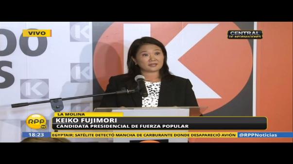 Keiko Fujimori rechazó las acusaciones en su contra por el presunto lavado de activos.