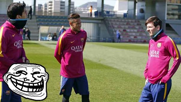 Neymar se burló de Messi.