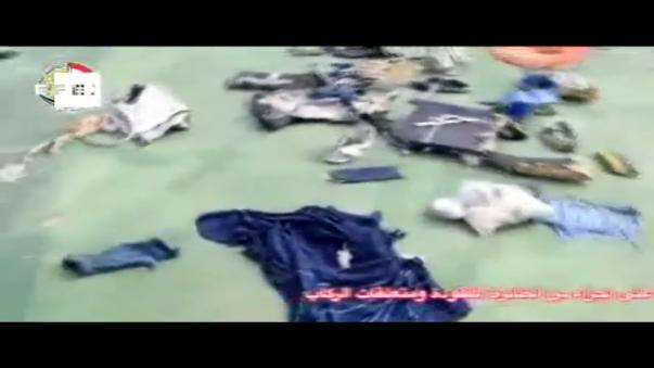 El video de los restos recuperado del avión EgyptAir