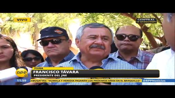 Francisco Távara, presidente del JNE, habló sobre la organización del debate presidencial