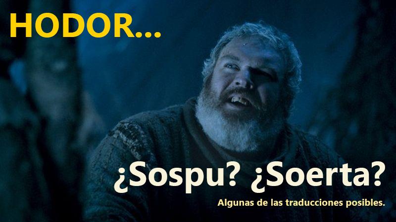 Game of Thrones: Hodor es ahora tendencia en Twitter.