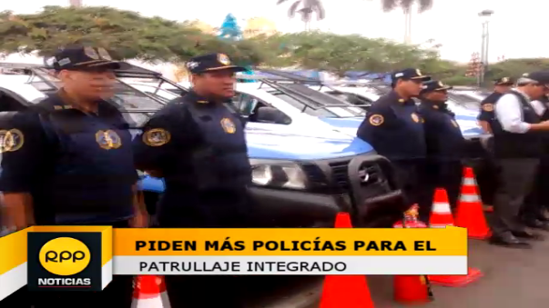 Solo 4 policías han sido destacados para trabajar en patrullaje con agentes de Seguridad Ciudadana.
