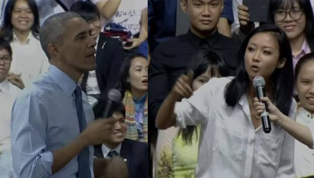 Obama envió fuertes mensajes a favor de los derechos humanos y la libertad de expresión.