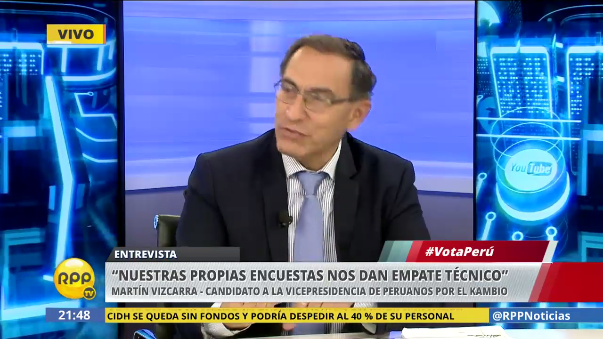 Martín Vizcarra es candidata a la primera vicepresidencia de Peruanos Por el Kambio.
