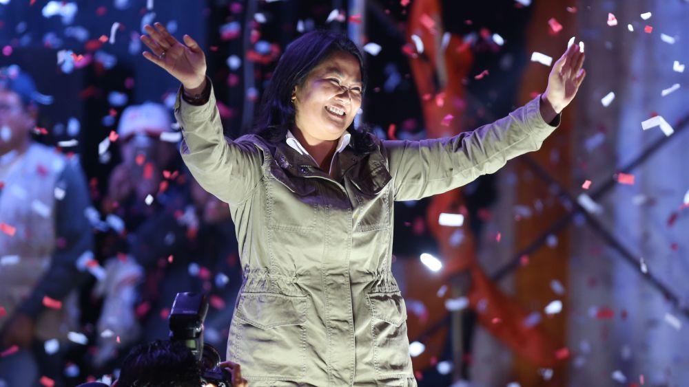 Fujimori se pronunció en un mitin en el que celebró su cumpleaños.