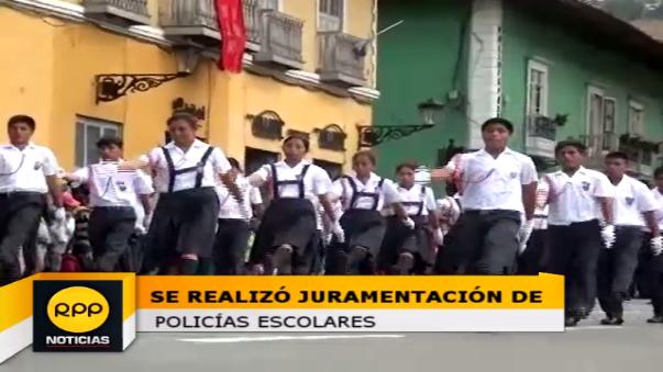 Escolares participaron junto a autoridades de la juramentación de policías escolares
