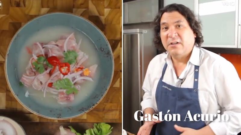 Gastón Acurio grabó este video donde da su recete de cebiche.