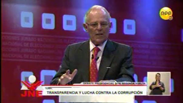 PPK y Keiko Fujimori participaron en el último debate presidencial que se desarrolló en Lima.