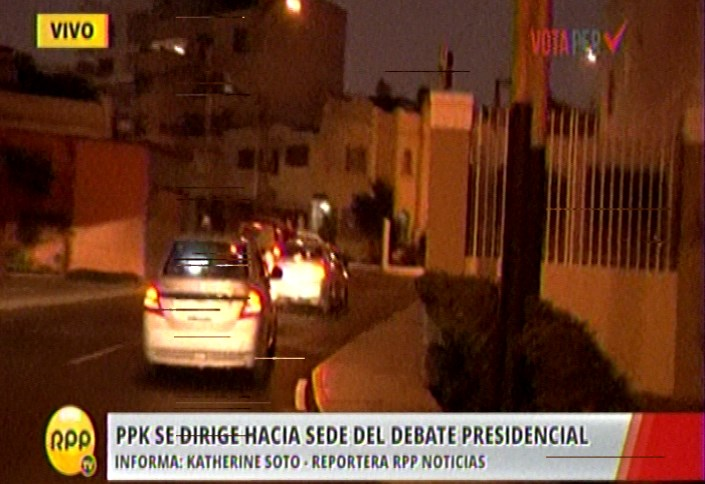 PPK sale de su domicilio en la calle Choquehuanca en San Isidro y va hacia la U. de Lima.
