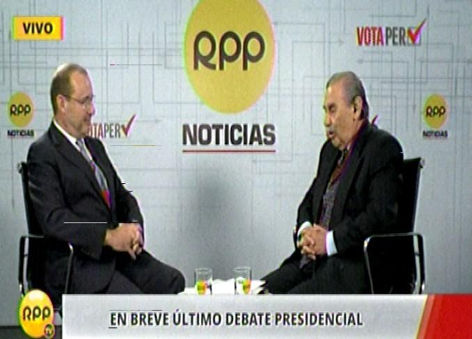 José Chlimper en vivo brinda entrevista a RPP Noticias.