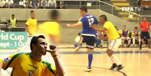 Falcao demostró por qué lo consideran como el mejor de la historia del Futsal.
