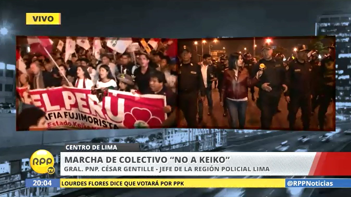 La movilización se realiza de manera pacífica en el Centro de Lima.