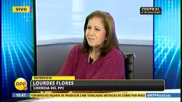 Lourdes Flores manifestó públicamente que votará por PPK.