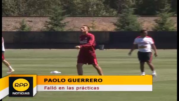 Paolo Guerrero falló en los ejercicios de definición.