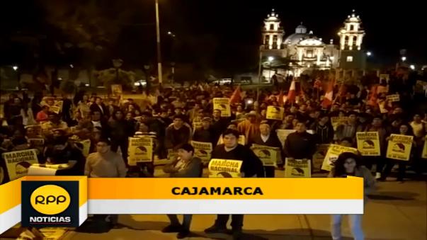 Miles de personas se congregaron para realizar movilizaciòn contra candidata de Fuerza Popular.