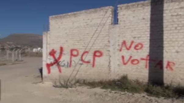 Pintas subversivas en Ayacucho.