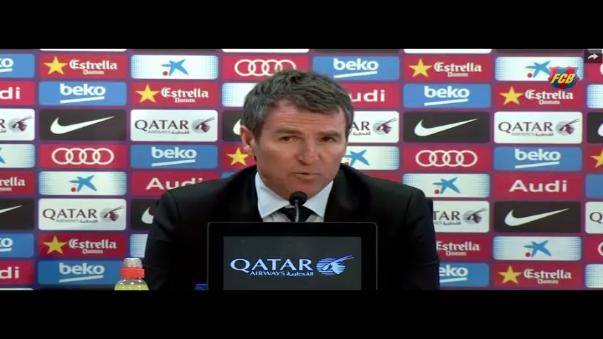 El secretario técnico del Barcelona, Robert Fernández, dio una mala noticia al hincha azulgrana.