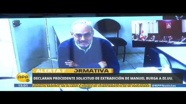 Declaran procedente solicitud de extradición a Manuel Burga a Estados Unidos.