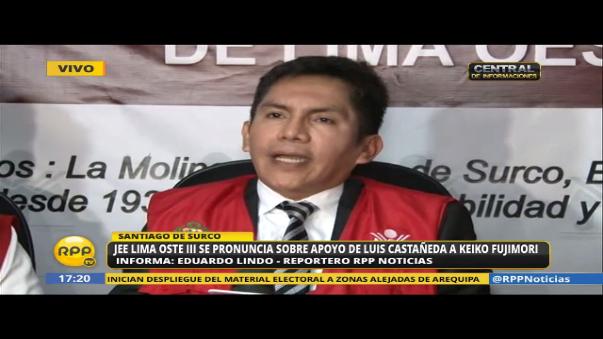 Abren proceso sancionador contra Luis Castañeda Lossio por reunirse con Keiko Fujimori