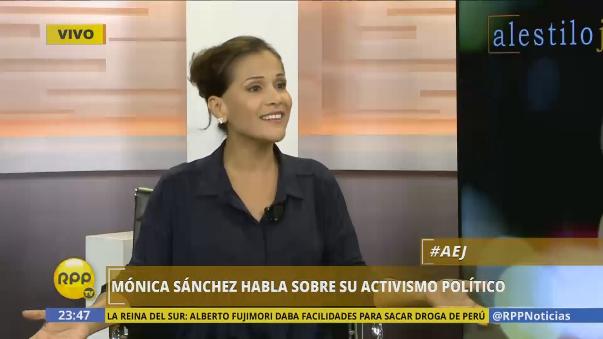 Estas declaraciones de Mónica Sánchez provocaron la respuesta de Karina Calmet